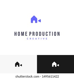 smart and clever combination between house and camera logo design inspiration
