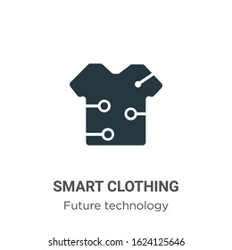Smart clothing glyph icon vector on white background. Flat vector smart clothing icon symbol sign from modern future technology collection for mobile concept and web apps design.