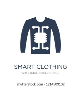 Smart clothing icon. Trendy flat vector Smart clothing icon on white background from Artificial Intelligence, Future Technology collection, vector illustration can be use for web and mobile, eps10