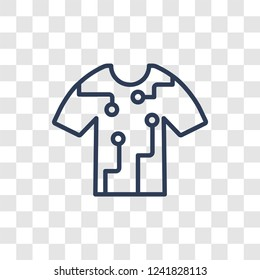Smart clothing icon. Trendy linear Smart clothing logo concept on transparent background from Artificial Intellegence and Future Technology collection
