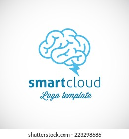 Smart Cloud Abstract Vector Logo Template Isolated