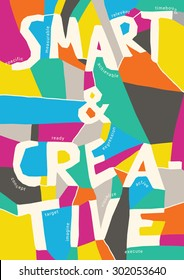 smart & creative colorful typographic poster