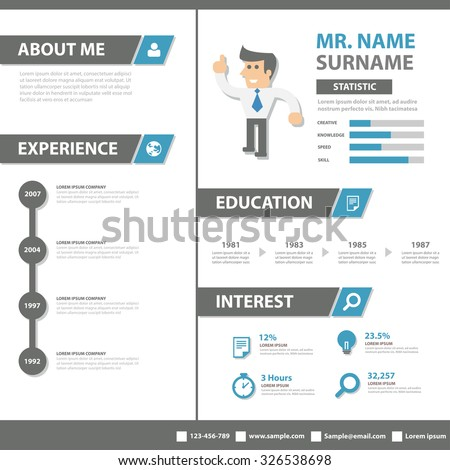Smart creative resume business profile cv stock vector royalty free smart creative resume business profile cv vitae template layout flat design for job application advertising marketing accmission Images