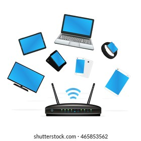 smart device connecte with router