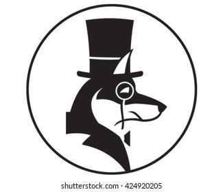 Smart Dog Icon. Vector Illustration.