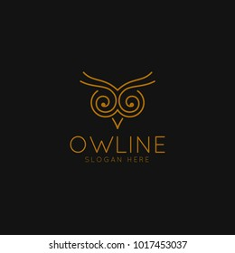 Smart Education logo with Owl Symbol and line art concept