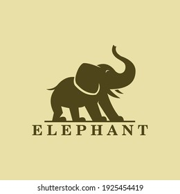 smart elephant logo, big and strong animals of the jungle, vector illustrations