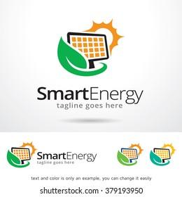 Smart Energy Logo Template Design Vector