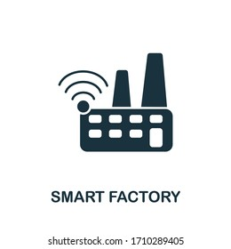 Smart Factory icon from digitalization collection. Simple line Smart Factory icon for templates, web design