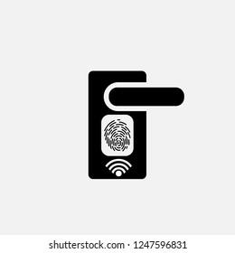 Smart fingerprint lock icon.Smart fingerprint lock concept symbol design. Stock - Vector illustration can be used for web