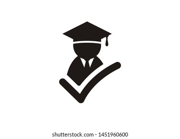 smart fresh graduate, simple icon.