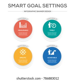 Smart Goal Settings Infographic Icons