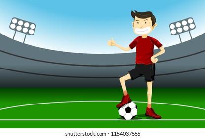 Footballeur Stock Illustrations Images Vectors Shutterstock