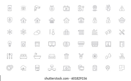 Smart Home, Home Automation Vector icon set