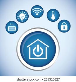smart home design, vector illustration eps10 graphic