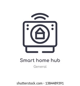 smart home hub outline icon. isolated line vector illustration from general collection. editable thin stroke smart home hub icon on white background