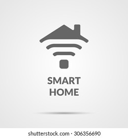 Smart home icon. Element for cards, illustration, poster and web design.