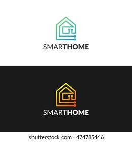 smart home icon house logo electricity electric energy power