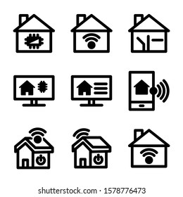smart home icon isolated sign symbol vector illustration - Collection of high quality black style vector icons