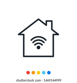 Smart home icon,Internet of things icon.