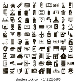 Smart home icons set. Simple set of smart home vector icons for web design on white background