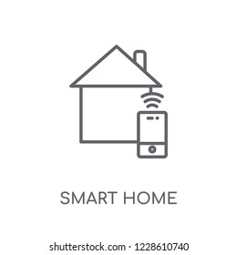 Smart home linear icon. Modern outline Smart home logo concept on white background from Smarthome collection. Suitable for use on web apps, mobile apps and print media.