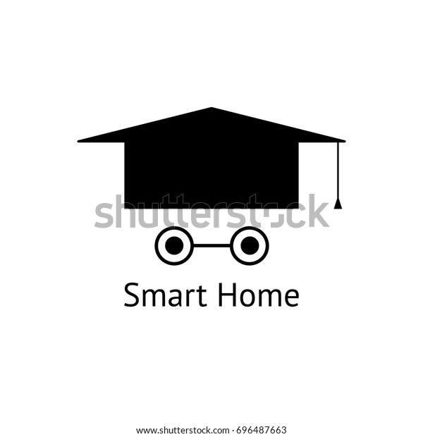 Smart home logo template. Vector logotype isolated on white background. Vector illustration.