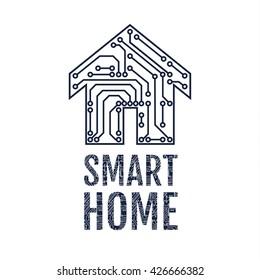 Smart home logo. Vector illustration.