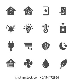 Smart home system vector icons