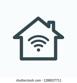 Smart house icon, smart home remote control system vector icon