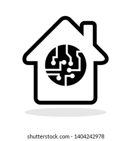 Smart house icon in trendy flat style. Smarthome symbol for your web site design, logo, app, UI Vector EPS 10.