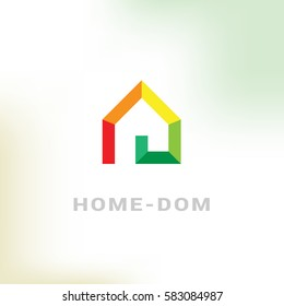 Smart House vector logo in a modern style