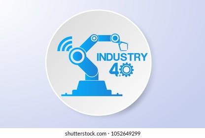 Smart Industrial  4.0 Technology concept Vector
