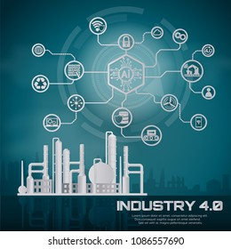 Smart industry 4.0, automation and user interface concept: user connecting with a tablet and exchanging data with a cyber-physical system.