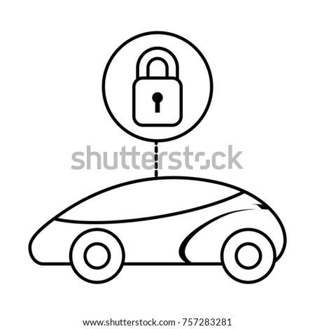 Smart Intelligent Car Security System Futuristic Stock Vector Smart