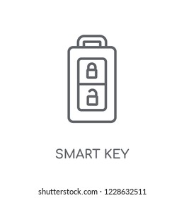 Smart key linear icon. Modern outline Smart key logo concept on white background from Smarthome collection. Suitable for use on web apps, mobile apps and print media.