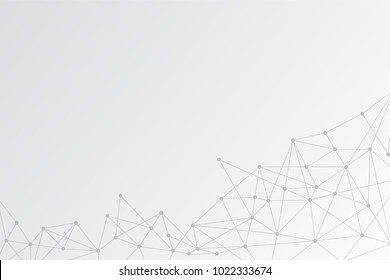 Smart Link Technologies to deliver high availability connectivity. Abstract blue Polygonal Space Background with Connecting Dots and Lines. Network use is in line with business requirements.
