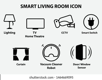 Smart Living Room modern icon