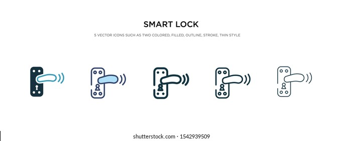 smart lock icon in different style vector illustration. two colored and black smart lock vector icons designed in filled, outline, line and stroke style can be used for web, mobile, ui