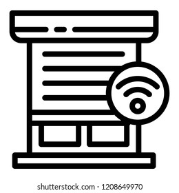 Smart louver icon. Outline smart louver vector icon for web design isolated on white background