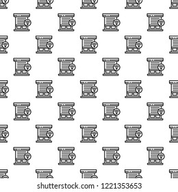 Smart louver pattern seamless repeat background for any web design