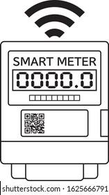 Smart meter icon illustration vector Smart meter is electric meter