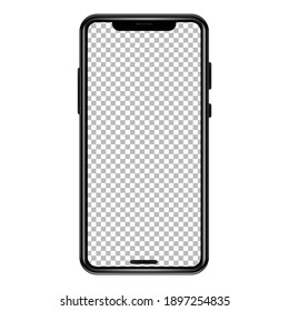 Smart Mobile phone transparent PNG mockup, iPhone mockup png, Mobile mockup