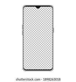 Smart Mobile phone transparent PNG mockup, Mobile mockup, Smartphone mockup