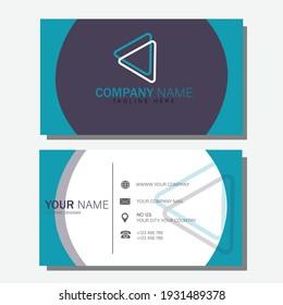 SMART MODERN business card, vector illustration, blue color