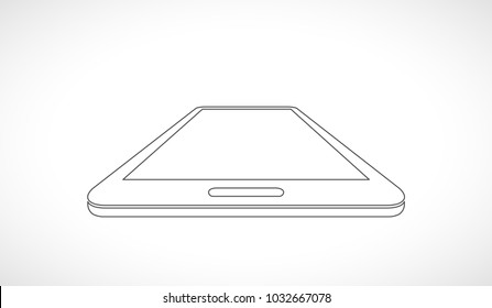 smart phone 3d outline  icon