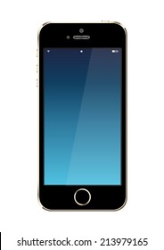 smart phone back on white background design to beautiful. Can use website and printing etc