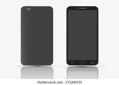 Smart phone black color vector design.