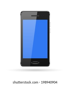 Smart phone with Blank screen isolated on white background vector