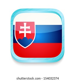 Smart phone button with Slovakia flag